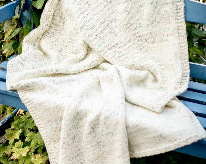 Designer baby blanket / wool blanket kids / chunky blanket merino / overlay / newborn basket prop / home design décor
