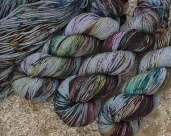 Hand dyed super soft merino fingering yarn extrafine superwash merino sock wool hand dyed knit wool wool