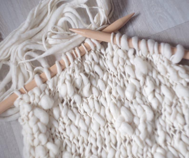 Thick and Thin Yarn hand spun merino knitting yarn/weaving image 0