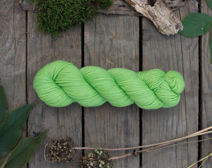 DK Merino Wolle handgefärbt, grün