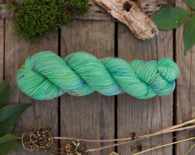 Sockenwolle handgefärbt, grün