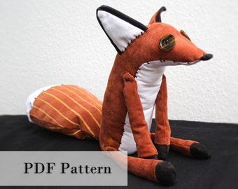 Pattern - Fox Plush Toy
