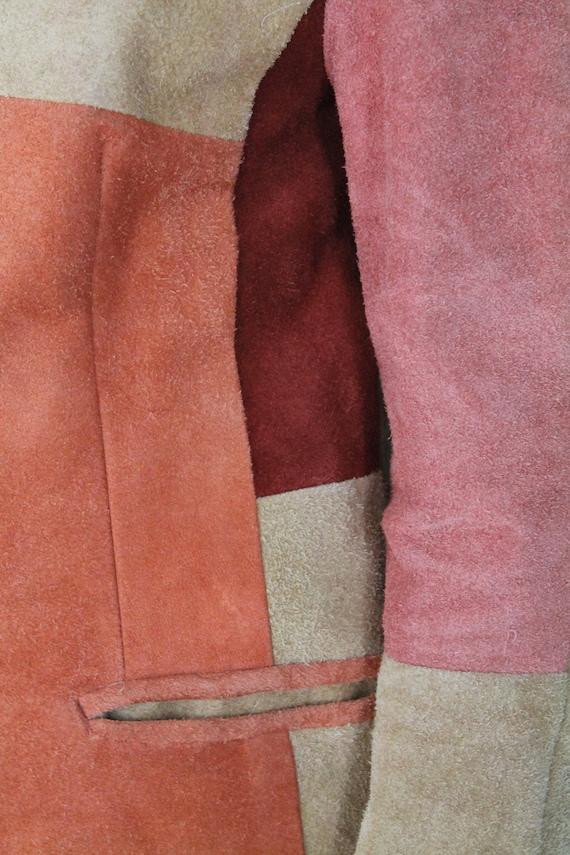 Brown Beige Orange & Peach Real Suede Leather Wes… - image 7