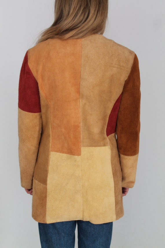 Brown Beige Orange & Peach Real Suede Leather Wes… - image 8