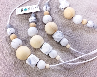 """Nursing Baby-safe Food-grade SiliconeTeething necklace """"Back 2 Nature"""""""