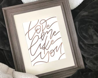 """""""Love Me Like You"""" Foiled Print - Inspired by Steven Universe"""