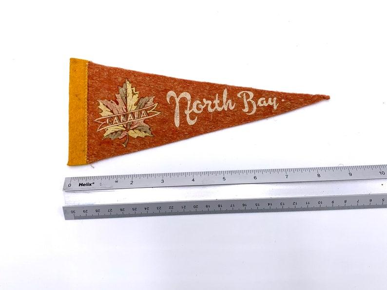 North Bay Canada CA 9 Vintage Pennant 1950/'s Road Trip Tourist Travel Souvenir Felt Flag