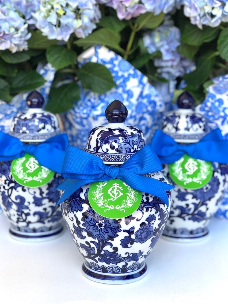 Blue and White Ginger Jars Small or Large Ceramic image 0