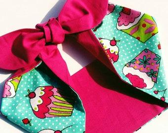 1950s Angie Cakes Hair Wrap....fifties inspired rockabilly bandana 0fbef9580e4
