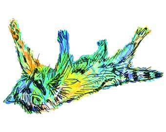 "Raccoon(3B) Giclée Print - Cavanata - 8"" X 10"" Raccoon Graphic Fine Art Print, Original Illustration, Animal Art"