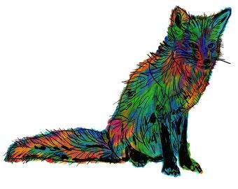 "Fox(1OG) Giclée Print - Cavanata - 8"" X 10"" Fox Graphic Fine Art Print, Original Illustration, Animal Art"