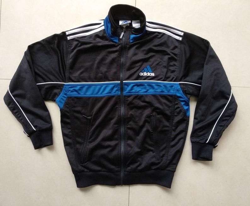 f15f3c813db2 Vtg ADIDAS Track Windbreaker Jacket   Old School Adidas