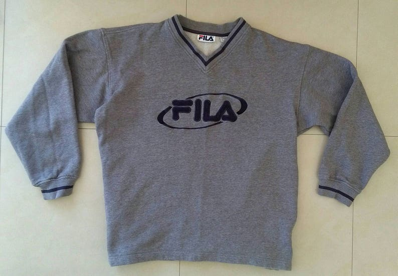 c519ab8cd Vtg FILA sweatshirt old school retro style rap 90s nike shell | Etsy