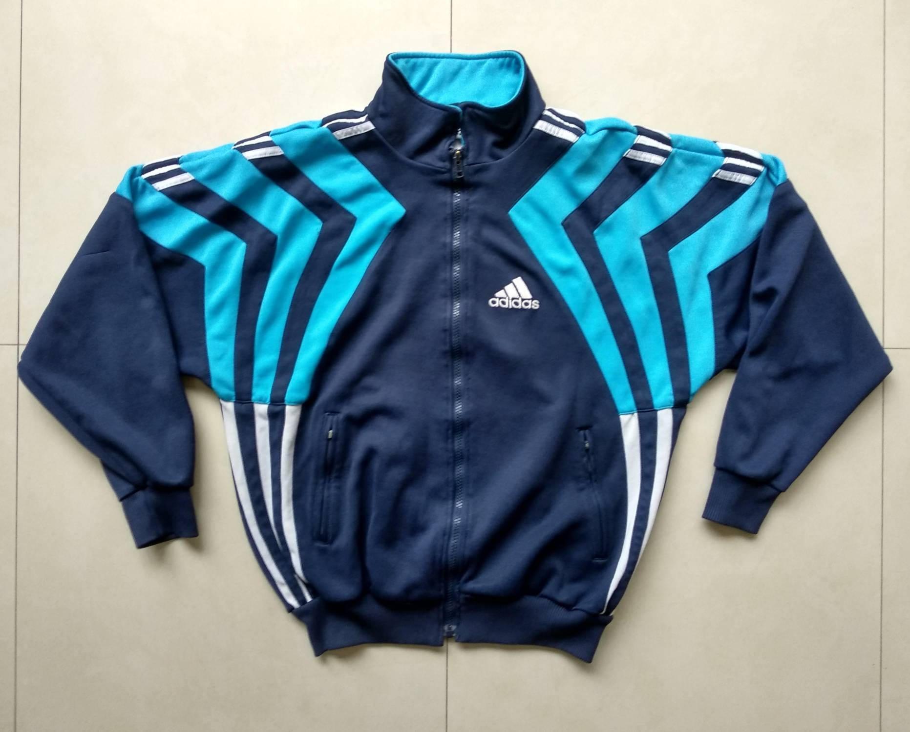 Vtg ADIDAS track windbreaker jacket old school mafia retro 90s 80s nike pink harts jogging fila puma outdoor bomber sweatshirt Size S