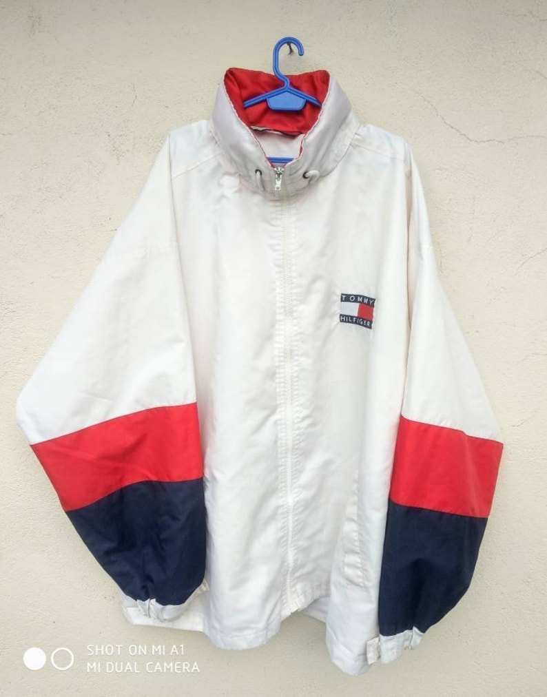 fcfcf88d Vtg Rare TOMMY HILFIGER Windbreaker Jacket / Fila Gucci Big   Etsy
