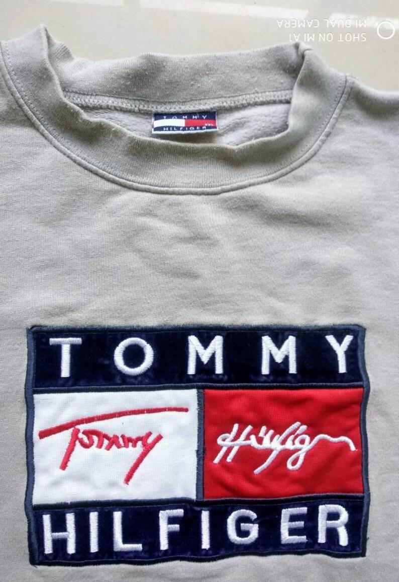 e4f68706 Vtg TOMMY HILFIGER SWEATSHIRT / Big Logo / Retro old school   Etsy