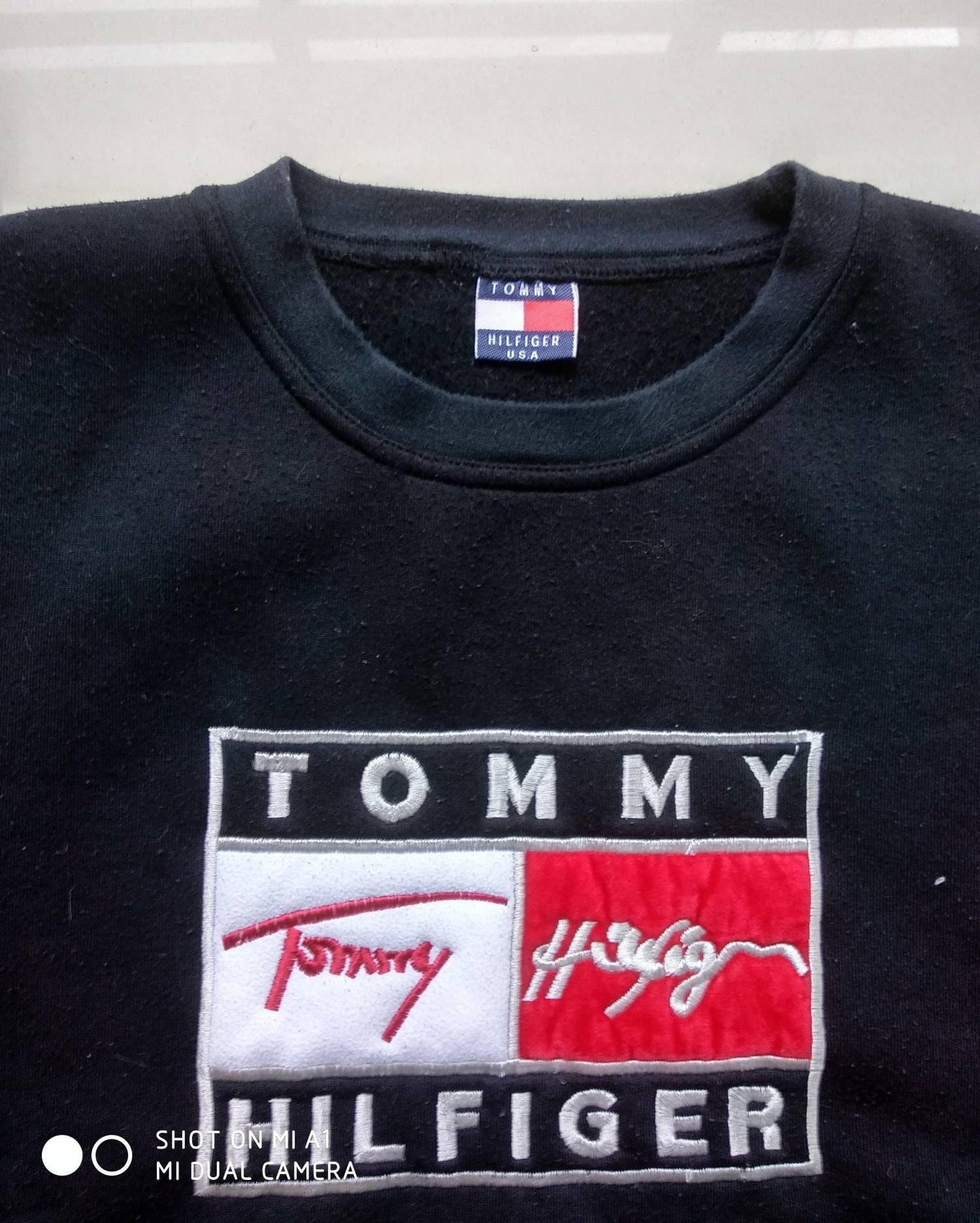 88db0c481f9a Vtg RARE TOMMY HILFIGER sweatshirt Big Logo Retro old school