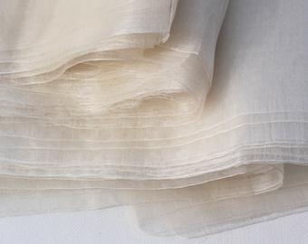 """100% silk Organza fabric Margilan silk width 38"""" wide Nunofelting Nuno felting, Pure Margelan silk by the yard 90 cm wide silk"""
