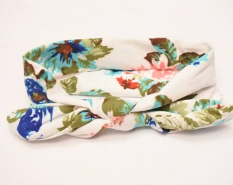 Floral baby top knot headband