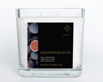 Mediterranean Fig 100% Pure Soy Double Wick Candle