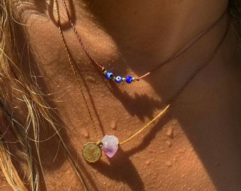 Zodiac Amethyst necklace/choker, amethyst and gold charm zodiac necklace