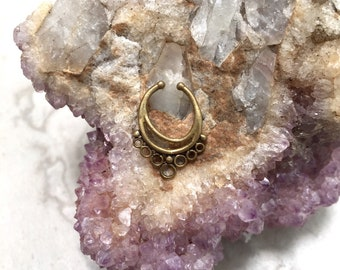 Faux brass septum ring