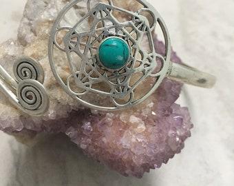Sri yantra arm band, sacred geometry jewellery, tribal arm band
