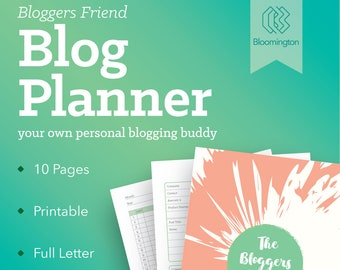 Blog Planner / Printable Blog Organizer / Social Media Planner / Blogging Journal / Visual Schedule / To Do List // Instant Download