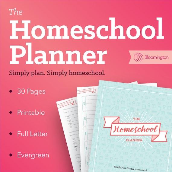 the homeschool planner school planner teacher plan book etsy rh etsy com  etsy homeschool planner