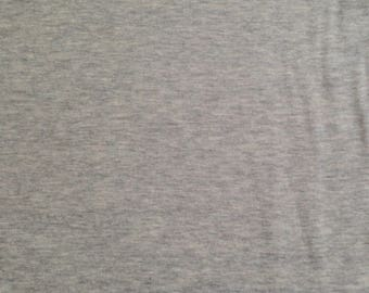 Double Layer Jersey in Grey - Robert Kaufman fabric- 1/2 yard or more