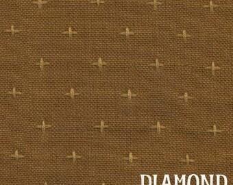 Rustic Homespun in Rust - woven cotton fabric
