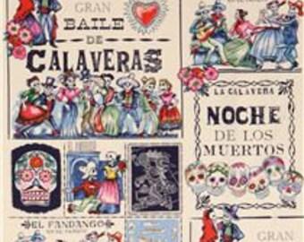 Baile de Calavera - Alexander Henry - 1/2 yard cotton fabric