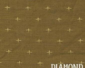 Rustic Homespun in Earth - woven cotton fabric