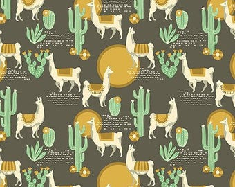 Lingering Llamas in Tusco - Florabelle by Joel Dewberry - cotton fabric