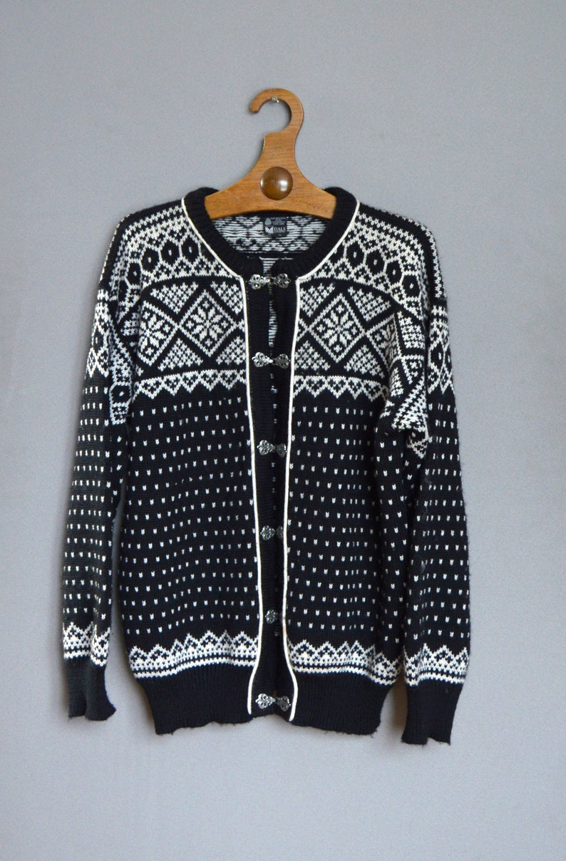 2a1a9c05448 Dale of Norway Norwegian New Wool Jacket Black White Nordic