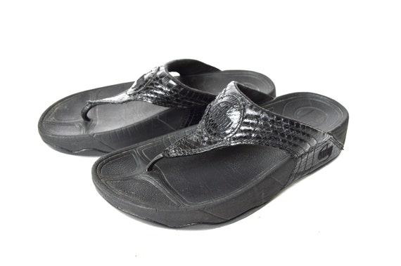 Flip Flop Sandals Black One Strap