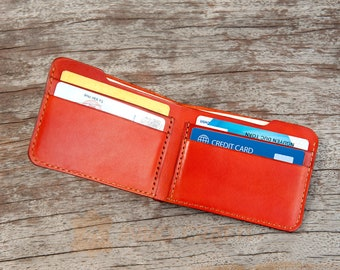 Slim Wallet Front Pocket Wallet Leather Wallet Bifold Wallet Minimalist Wallet Simple Wallet PERSONALIZED Wallet