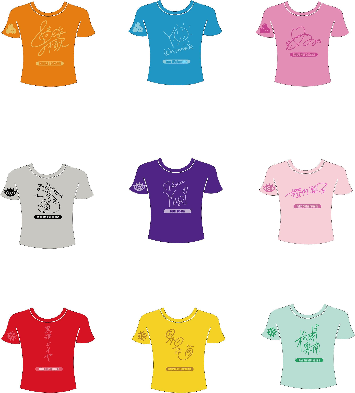 Love Live Sunshine Aqours Heat Transfer Glitter Vinyl Shirt Etsy