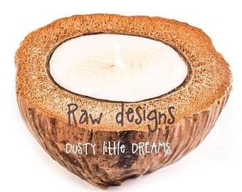 Island coconut scented ~Coconut Candle