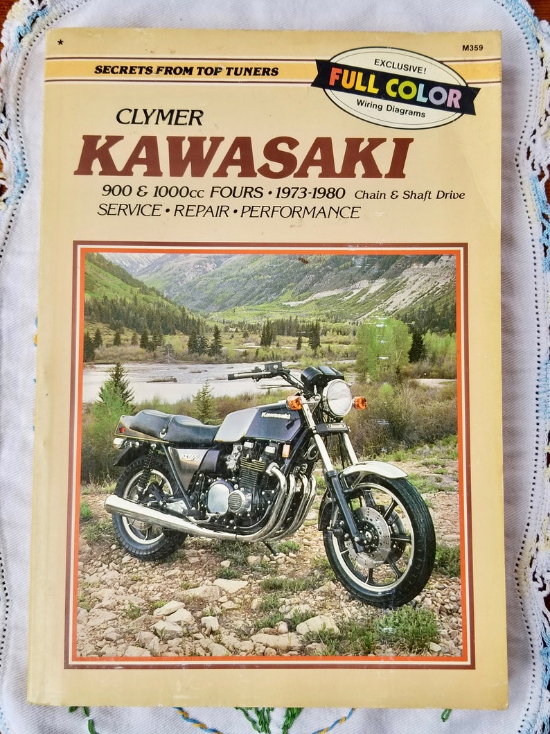 Clymer Kawasaki Service Repair Manual, Kawasaki 900 and 100cc Fours on