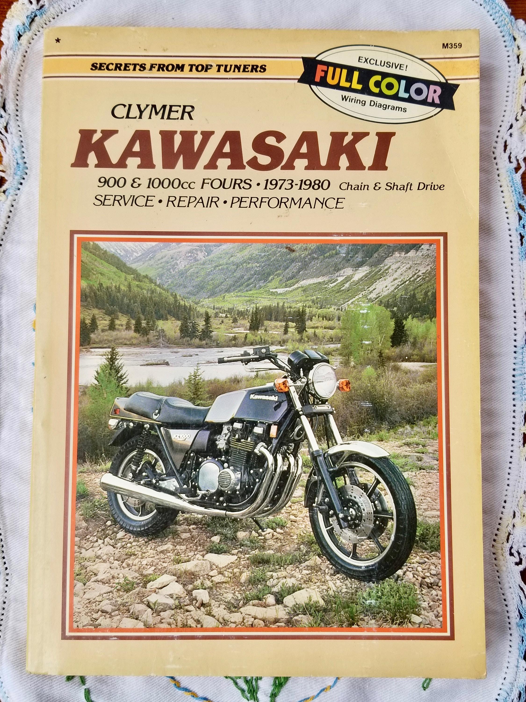 1980 Kz1000 Wiring Diagram Color Library Shaft Clymer Kawasaki Service Repair Manual 900 And 100cc Etsy Cat 5