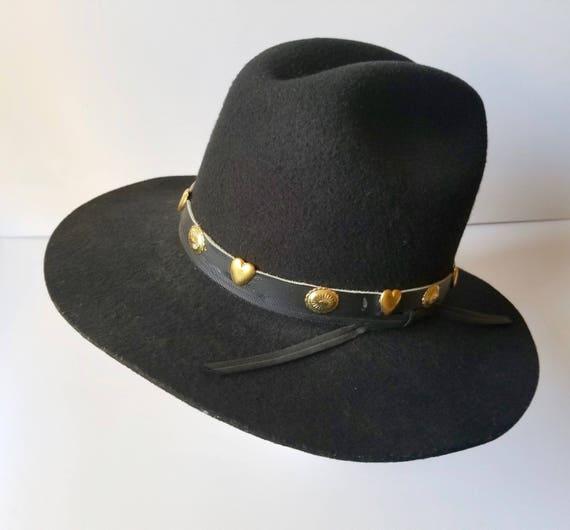 Black Western Cowboy Hat, Youth Size Large  Weste… - image 8