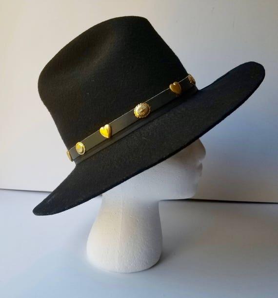 Black Western Cowboy Hat, Youth Size Large  Weste… - image 3