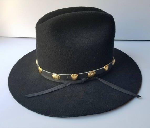 Black Western Cowboy Hat, Youth Size Large  Weste… - image 4