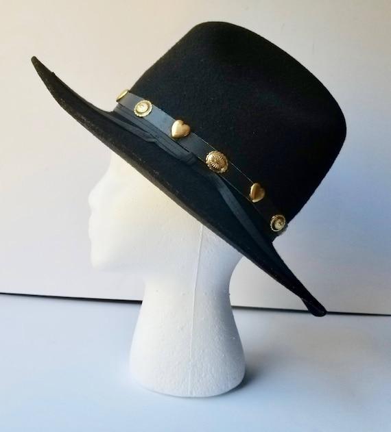 Black Western Cowboy Hat, Youth Size Large  Weste… - image 2