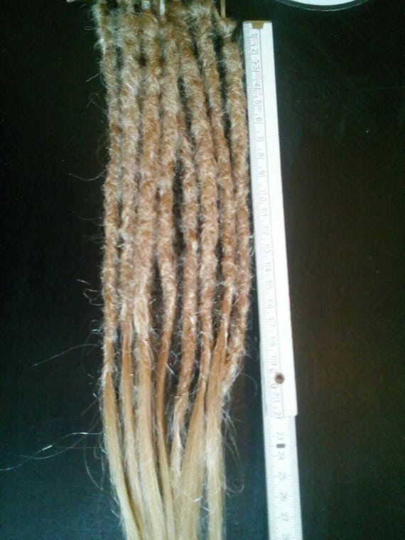 100 Human Hair Dreadlock Extensions 45 Cm18 Lang Etsy