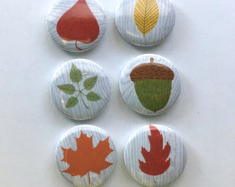 Fall Leaves Flair Badges