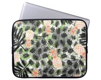 Neoprene Laptop Sleeve laptop case palm leaves sleeve pineapple Laptop sleeve computer Case Laptop Bag laptop cover jungle computer sleeve