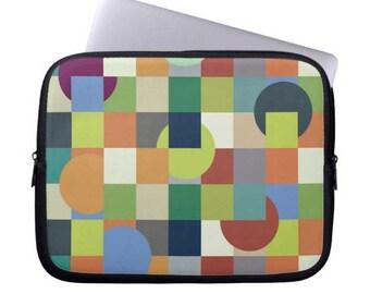 mens laptop case geometric Neoprene Laptop Sleeve abstract MacBook Case colorful Laptop Case modern Laptop Bag  macbook sleeve computer case