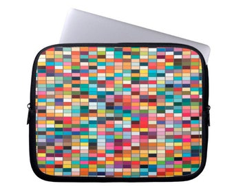 Neoprene computer sleeve colorful laptop case modern MacBook Case abstract Laptop sleeve geometric computer Case Laptop Bag laptop cover